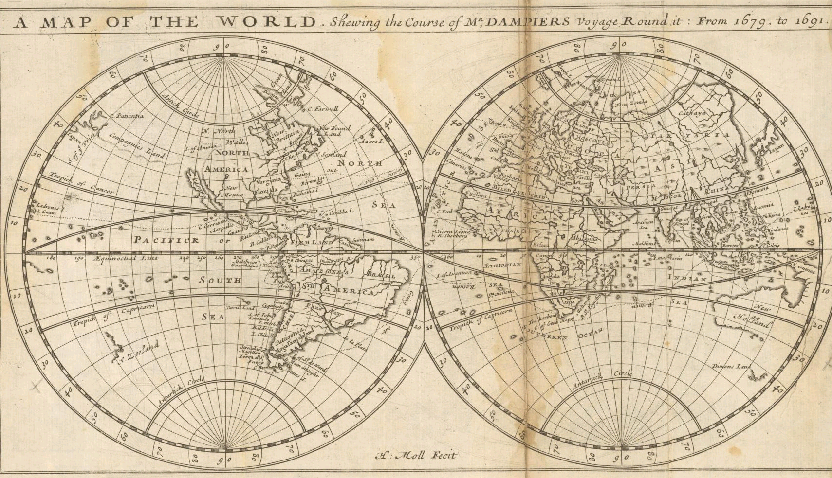 FileMoll A Map Of The World Shewing The Course Of Mr Dampiers - Round world map image