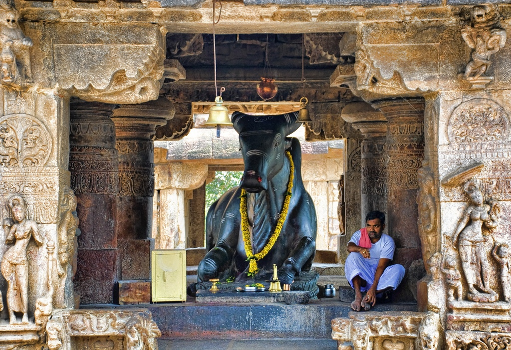 East Elevation Plan : File nandi at virupaksha temple pattadakal karnataka g