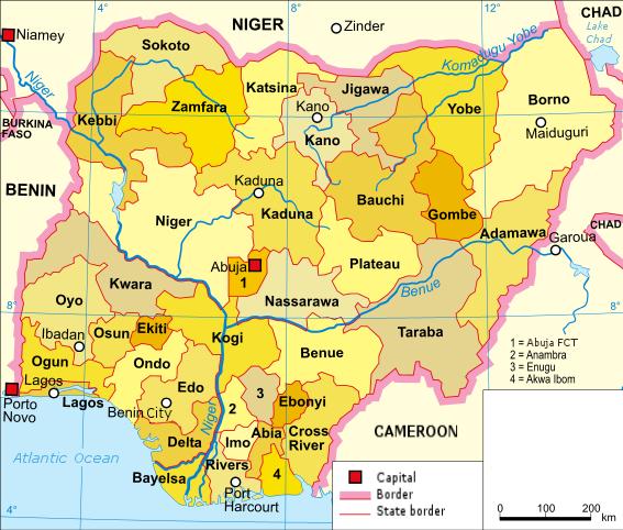 nigeria karte Communal conflicts in Nigeria   Wikipedia