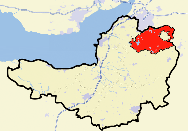 Map Of Uk North East.North East Somerset Uk Parliament Constituency Wikipedia