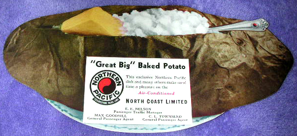 Northern Pacific Baked Potato ink blotter