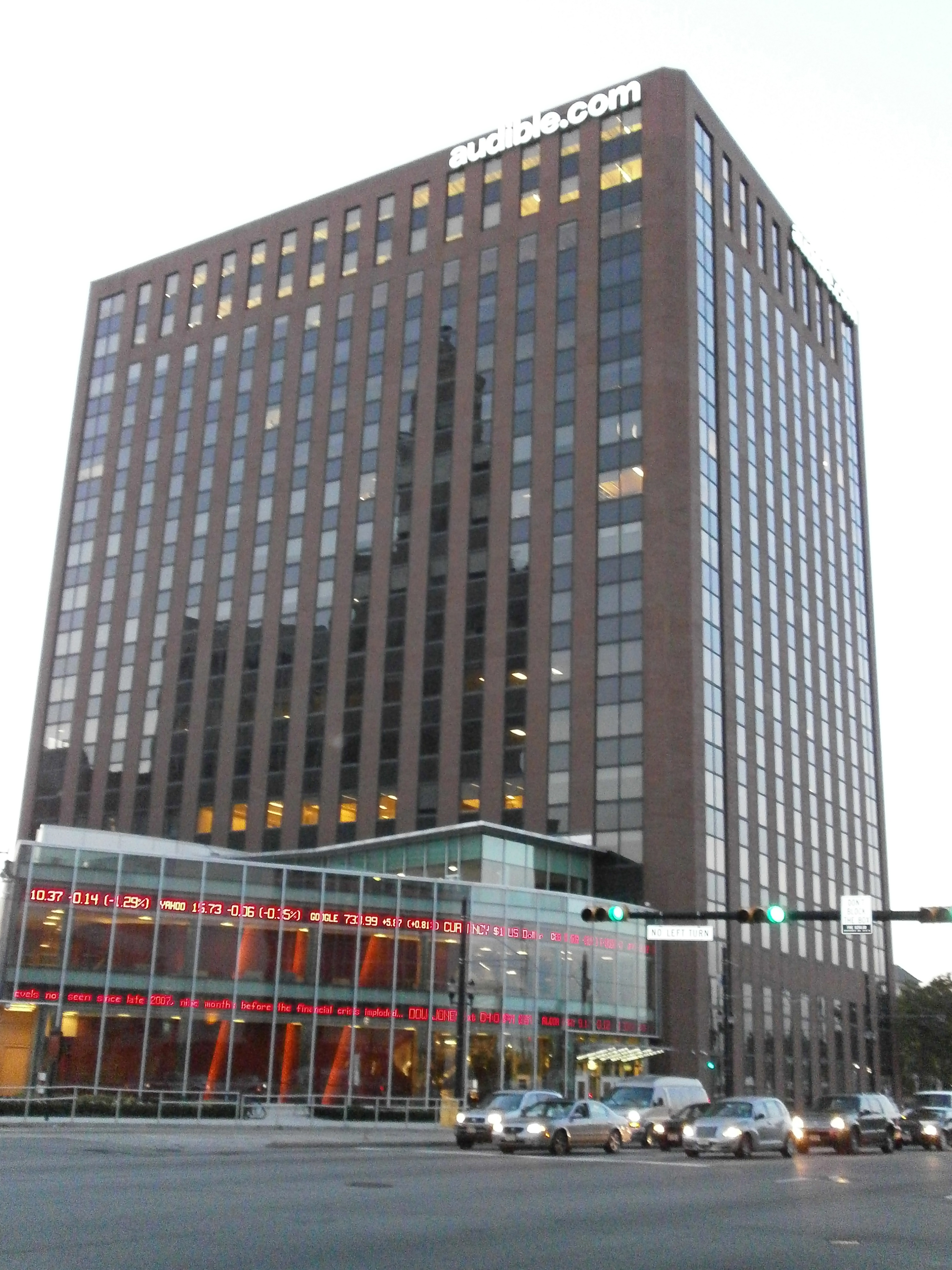 Rutgers Business School and Audible share same office tower in Newark