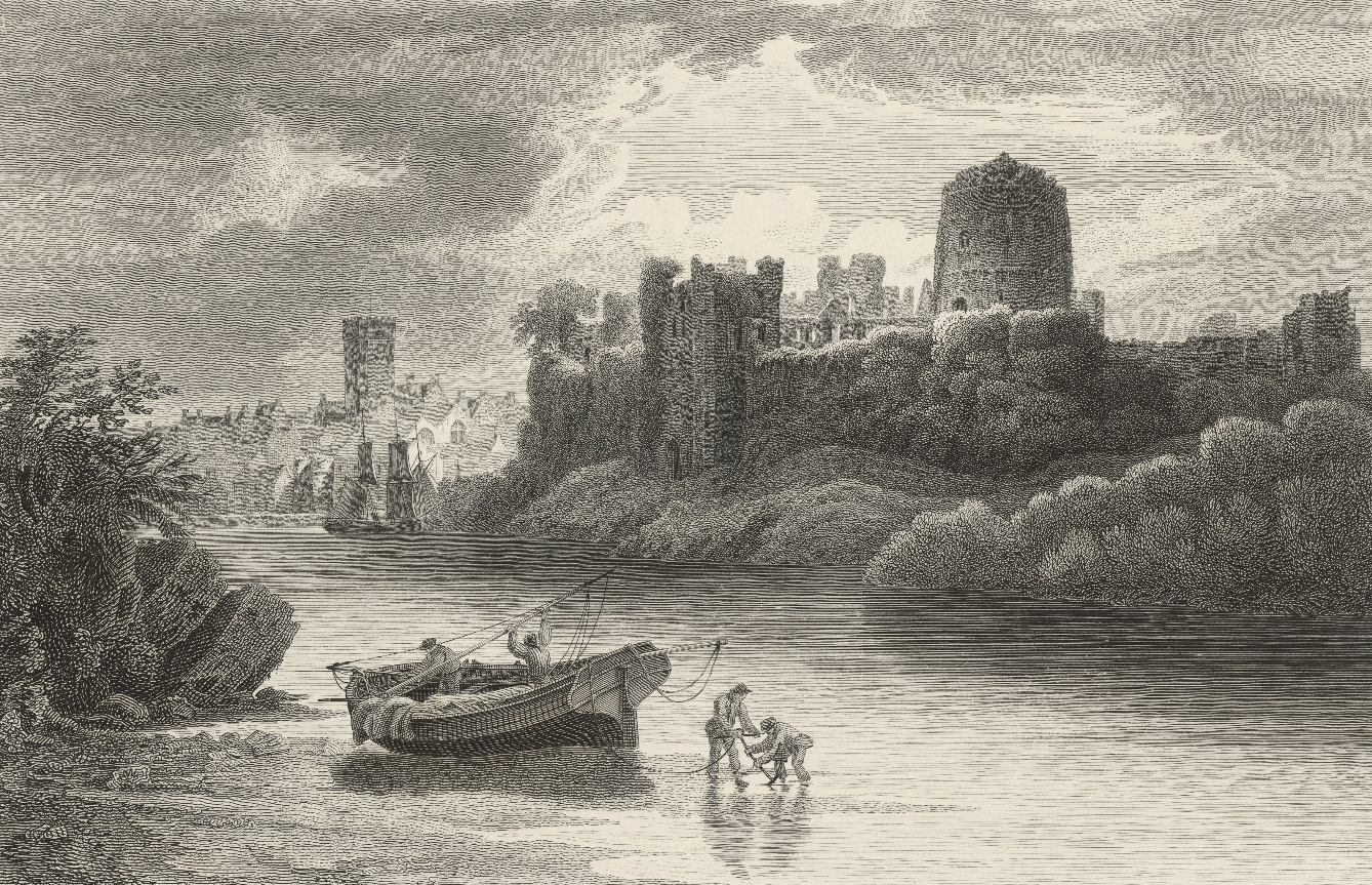 Pembroke castle and part of the town: from the N.W