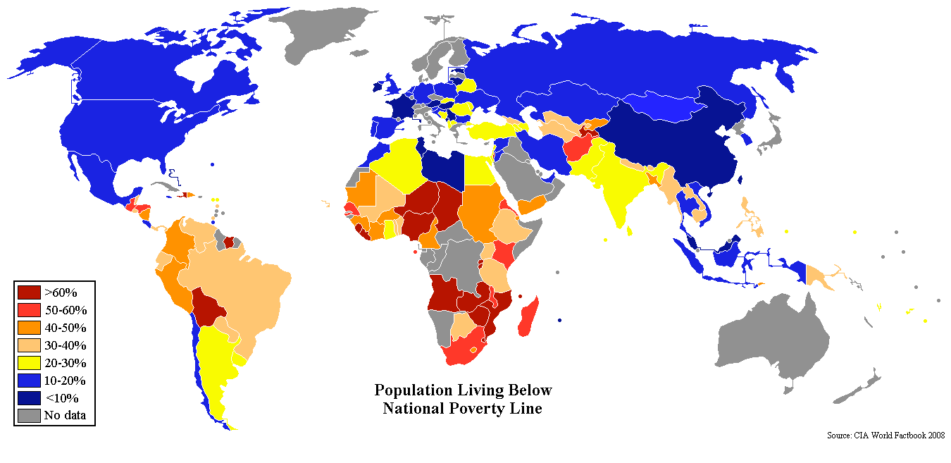 Description Percent poverty world map.png