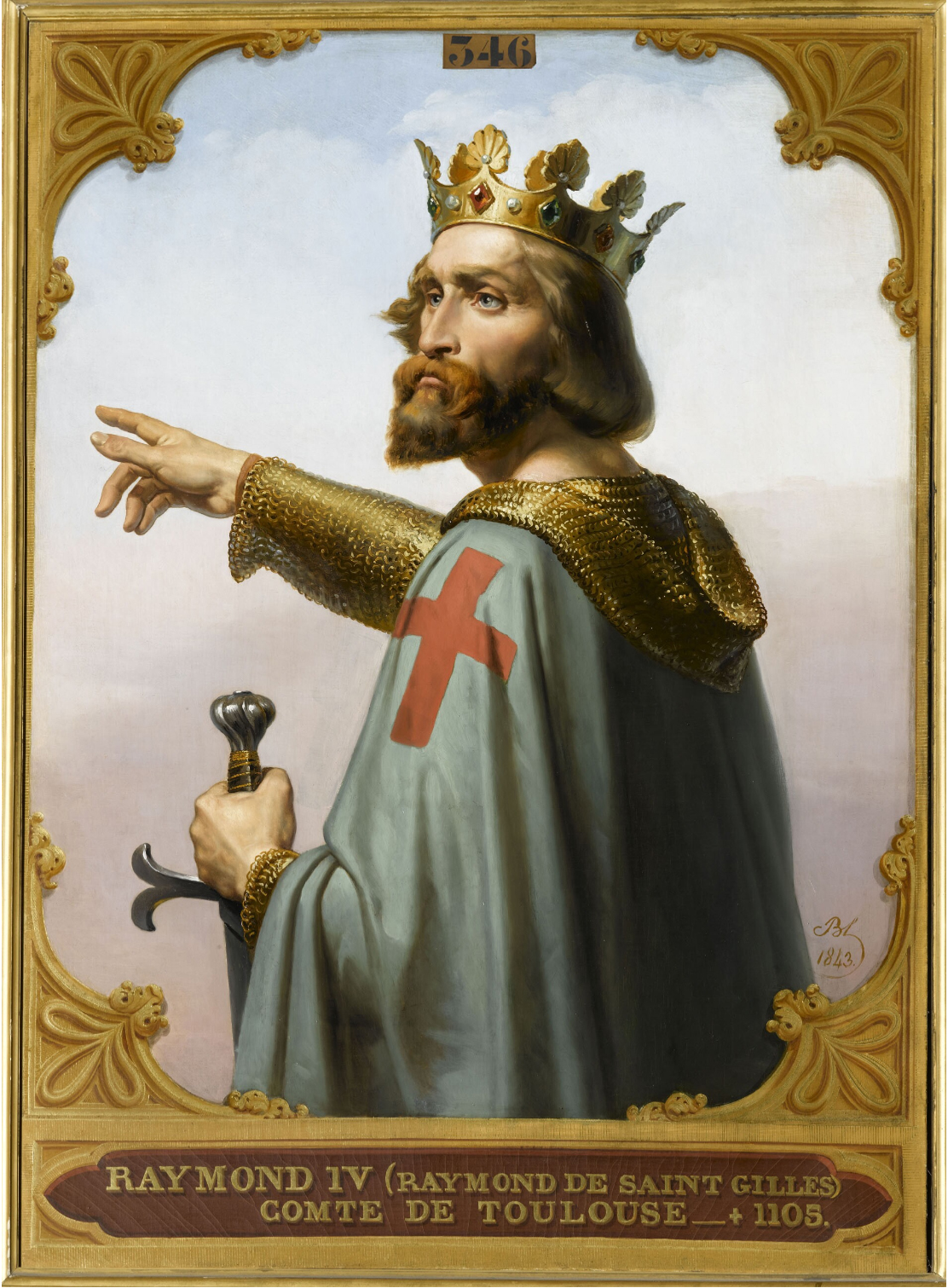 Raymond IV, Count of Toulouse was a leader of the First Crusade Raymond IV of Toulouse.jpg