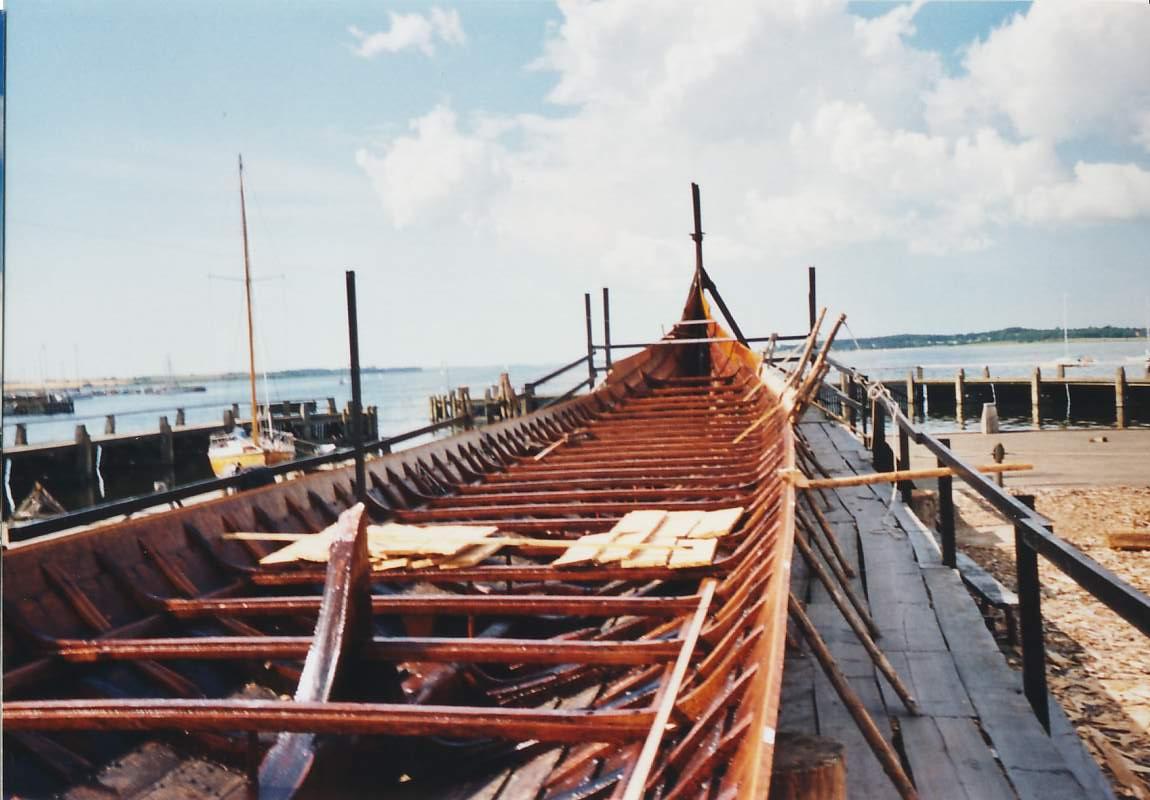 file reconstructed viking longship havhingsten fra glendalough