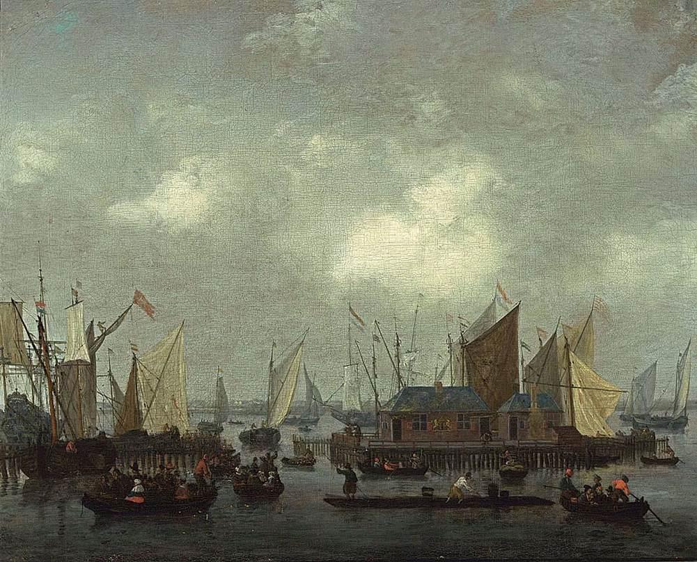 Circle of Abraham Storck (Amsterdam 1644-1708) , Shipping