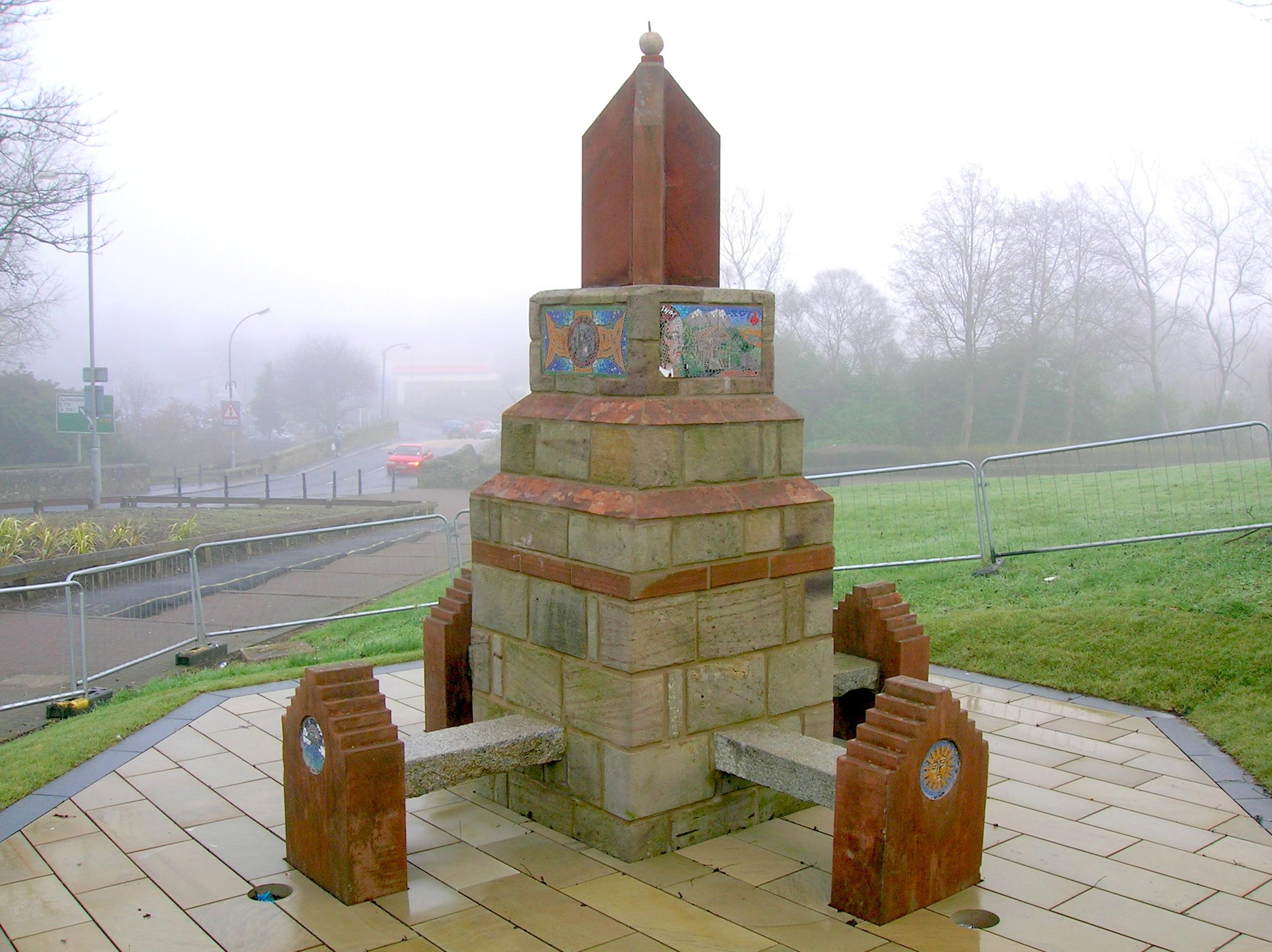 Robert Service Memorial, Kilwinning, Ayrshire.