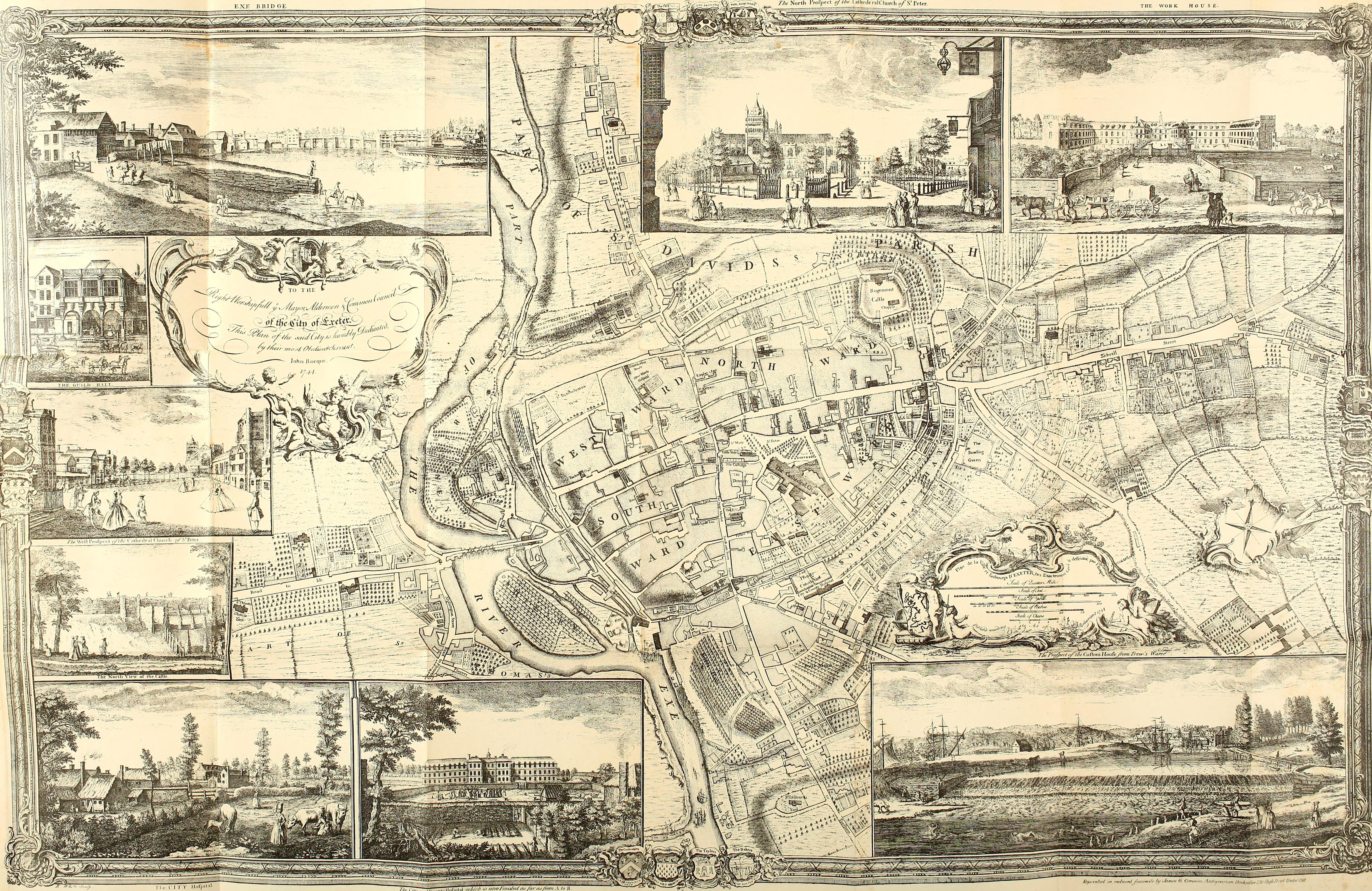 File Roque S Map Of Exeter 1744 Jpg Wikimedia Commons