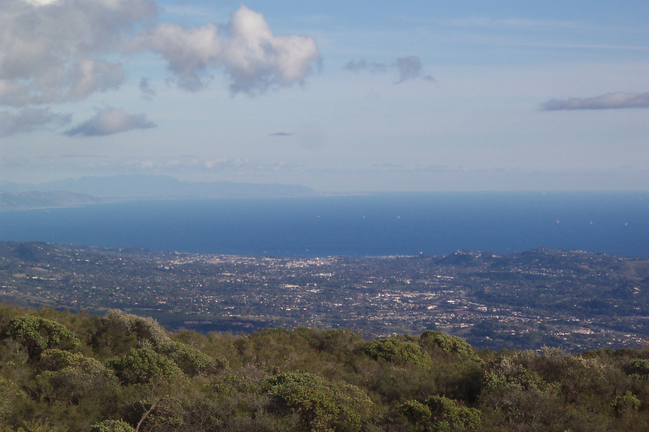 Santa Barbara from overlooking mountains