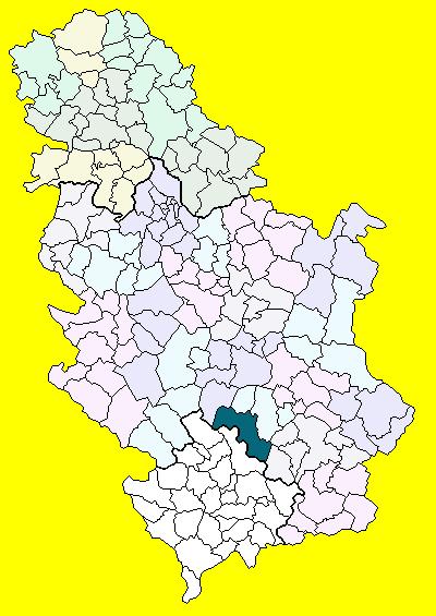 kursumlija mapa srbije Opština Kuršumlija   Wikipedia kursumlija mapa srbije