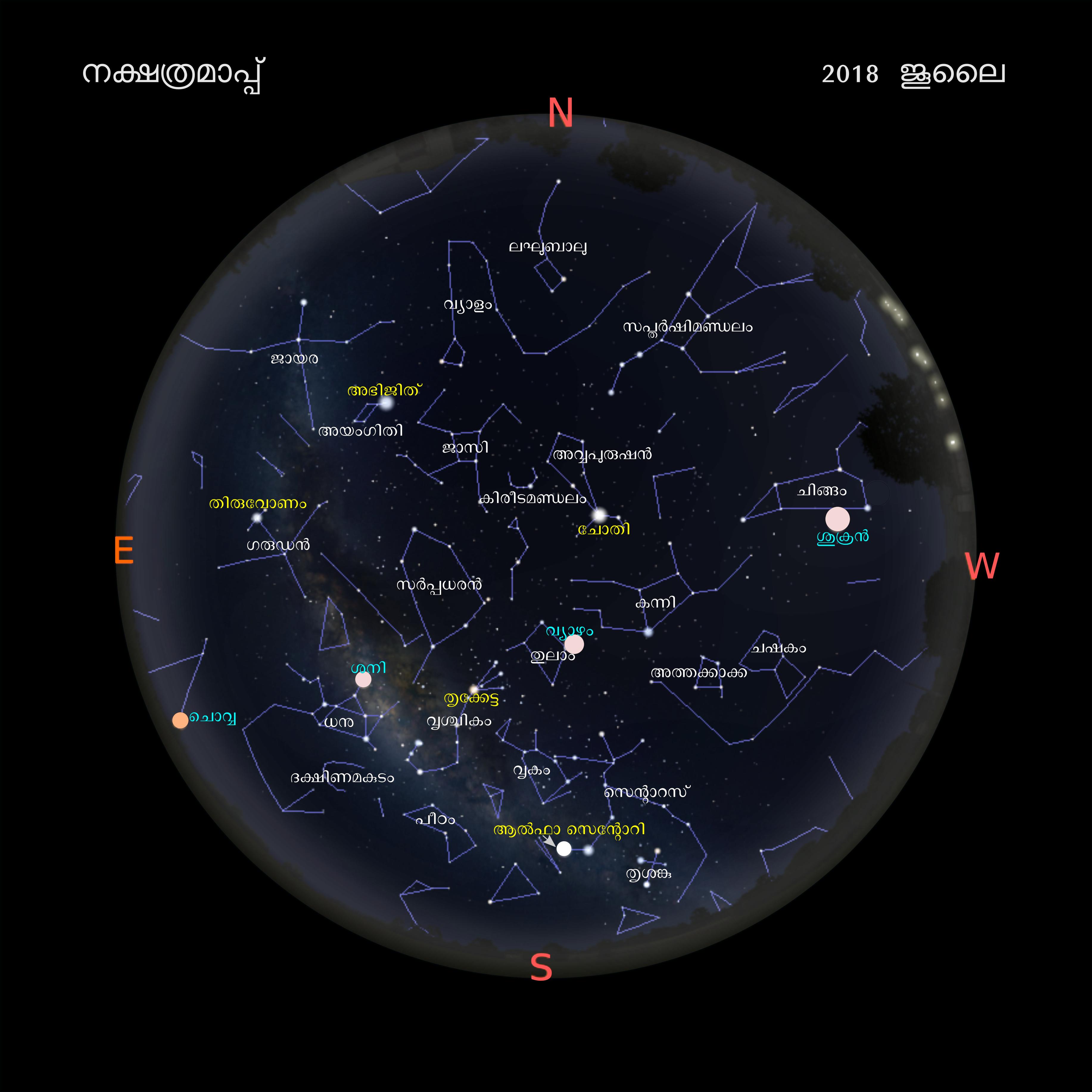 File:Sky map 2018 July malayalam png - Wikimedia Commons