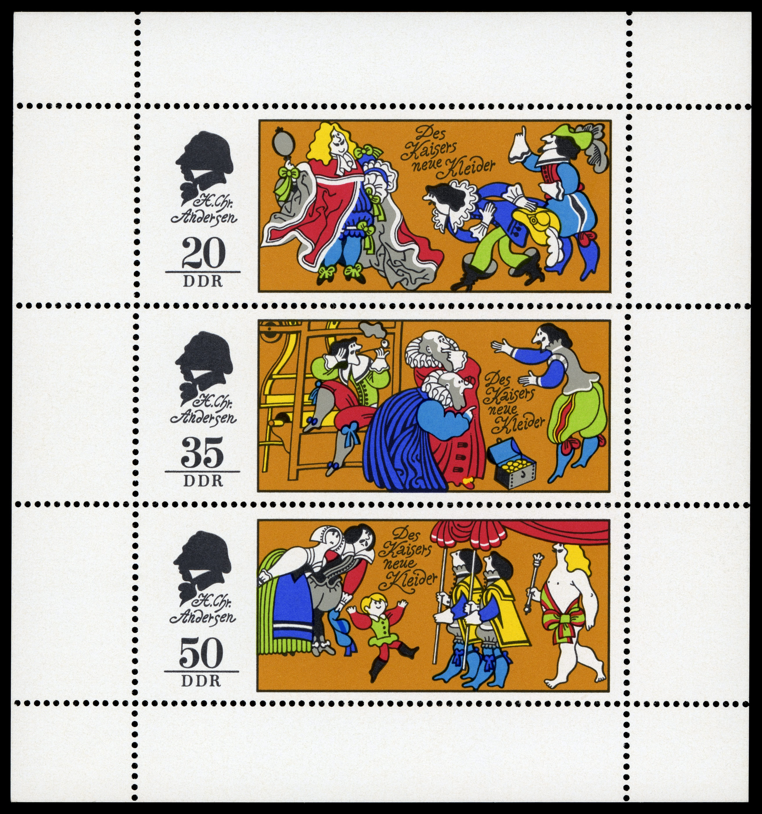 DDR 童话故事系列邮票(三) - 谷雨 - 一壶清茶 三五知己