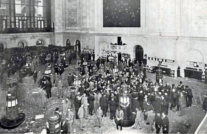 the history of the new york stock exchange The neoclassical design of the new york stock exchange symbolizes america's  capitalist  (the original 90-ton version was replaced in 1936 with a durable.