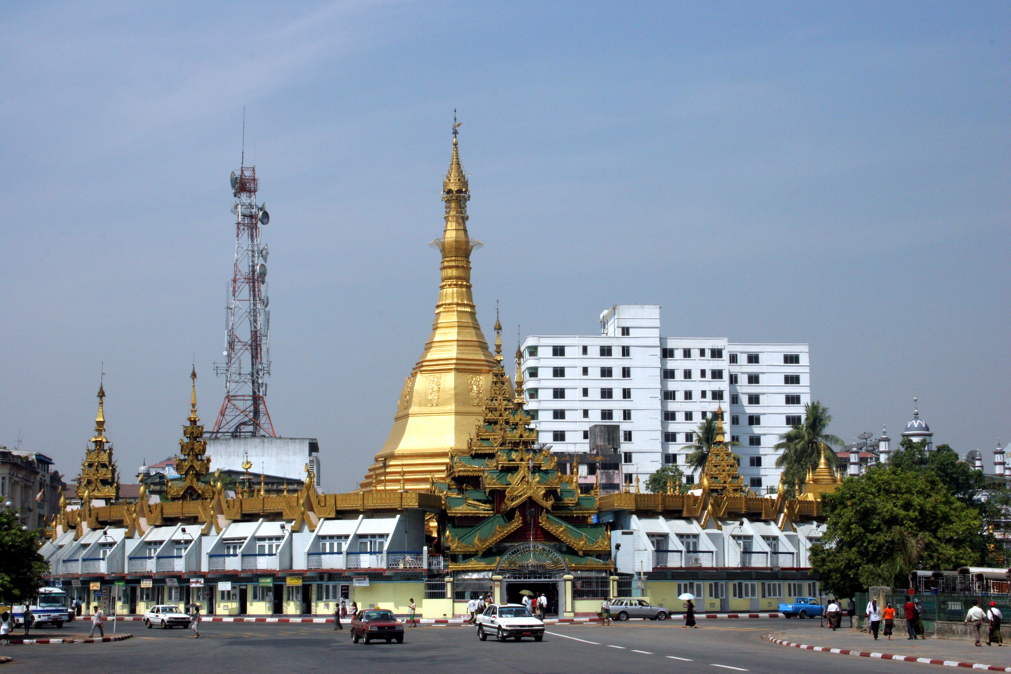 Sule Pagoda Yangon Burma Wikipedia, the free encyclopedia