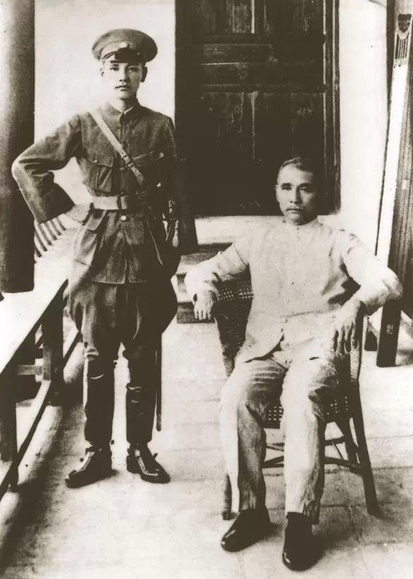 Sun Yat-sen (seated on right) and Chiang Kai-shek
