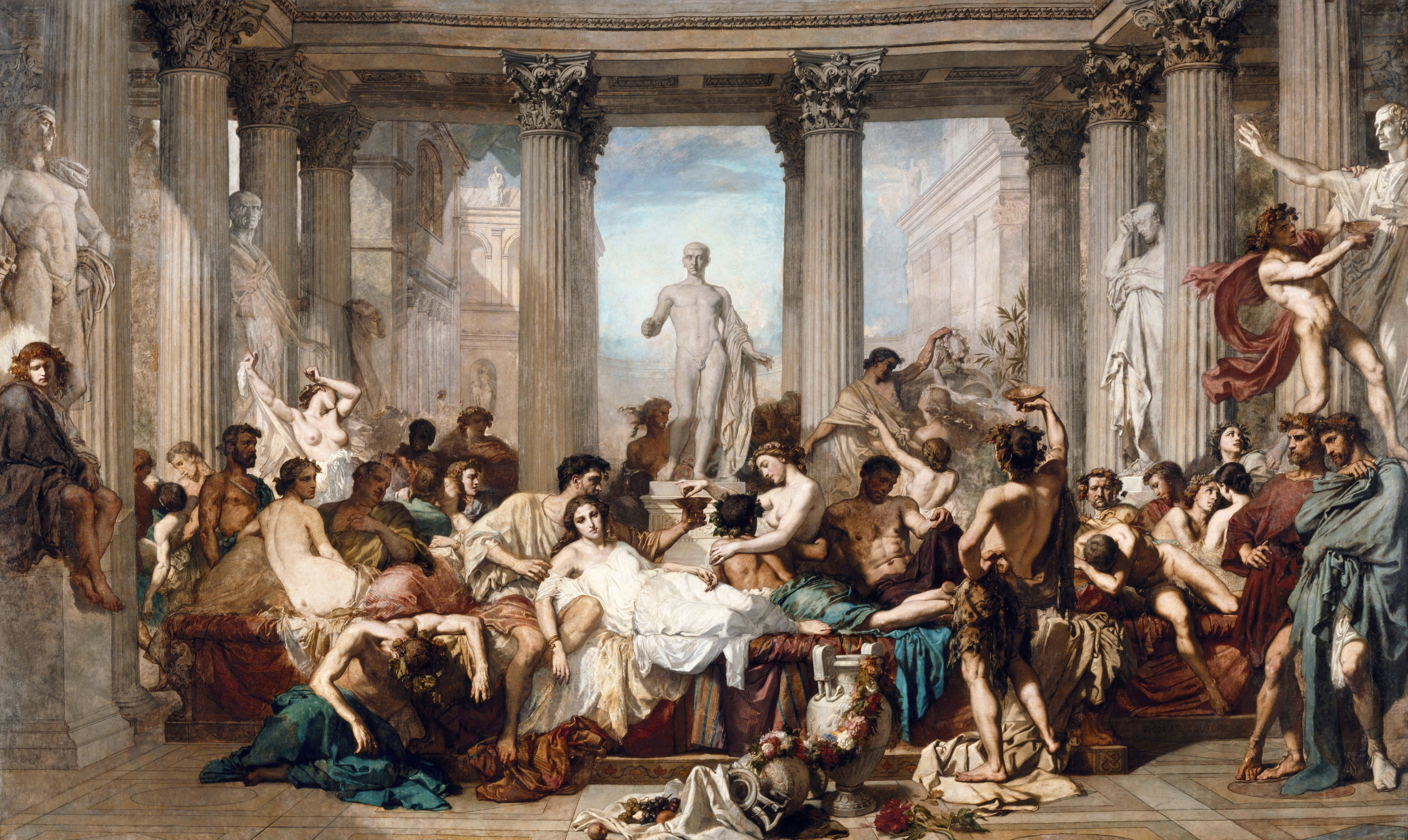 Romans during the Decadence, by Thomas Couture