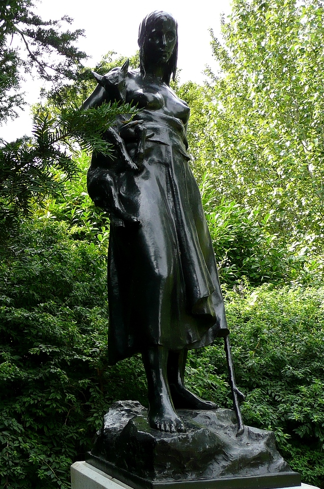 The Goatherd's Daughter - statue in Regents Park