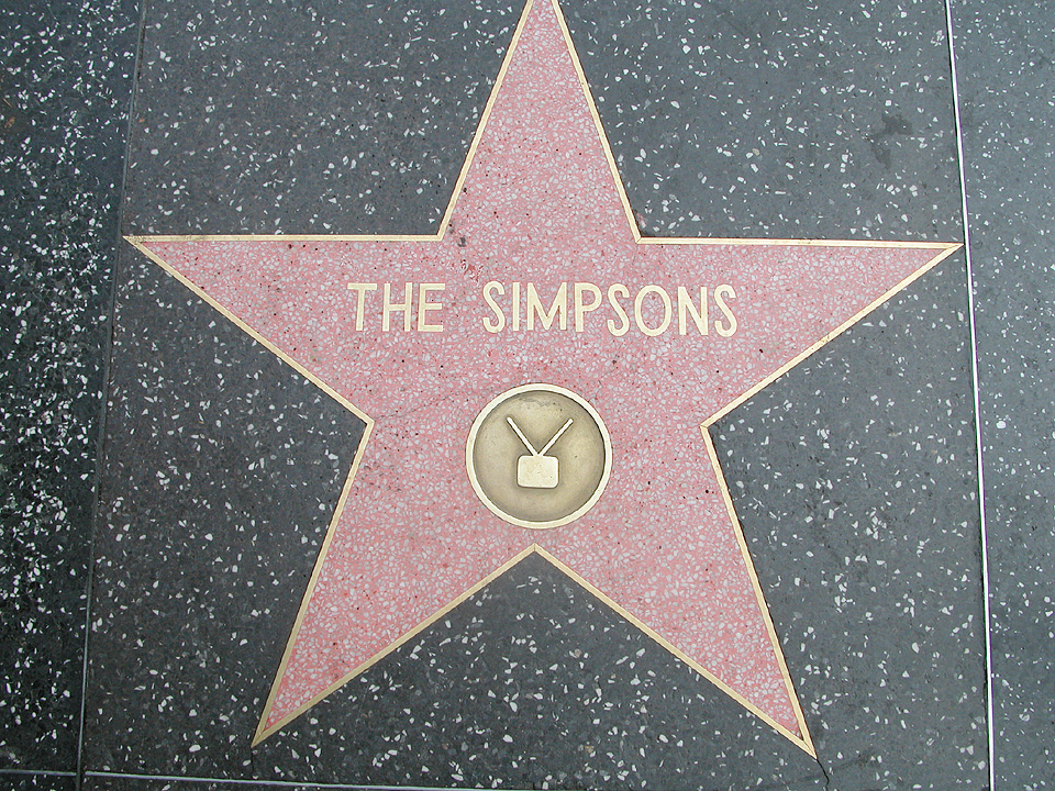 file the simpsons walk of fame     wikimedia commons