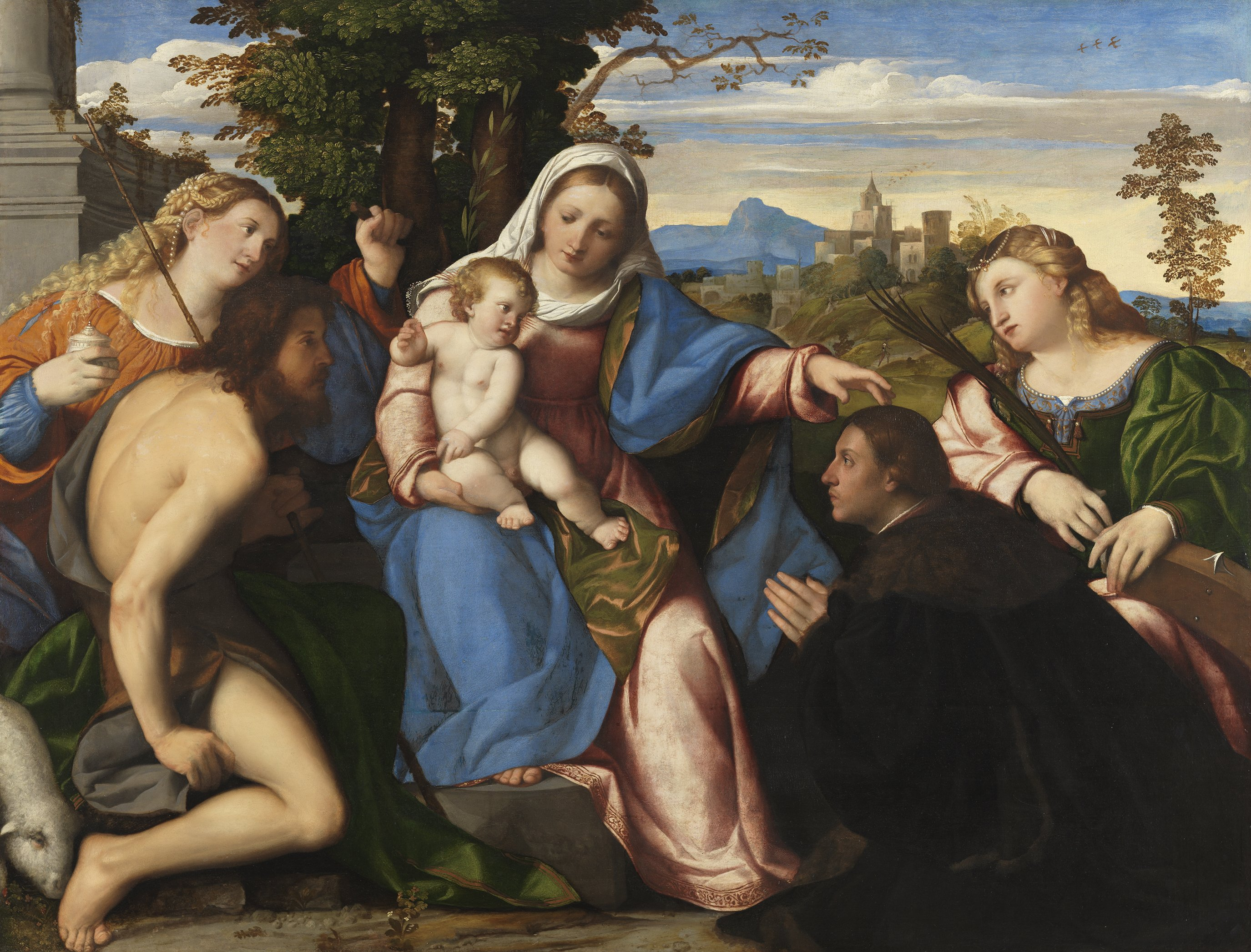 La Virgen y el niño con los santos y un donante