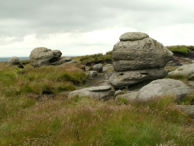 The Wain Stones a different view - geograph.org.uk - 476248