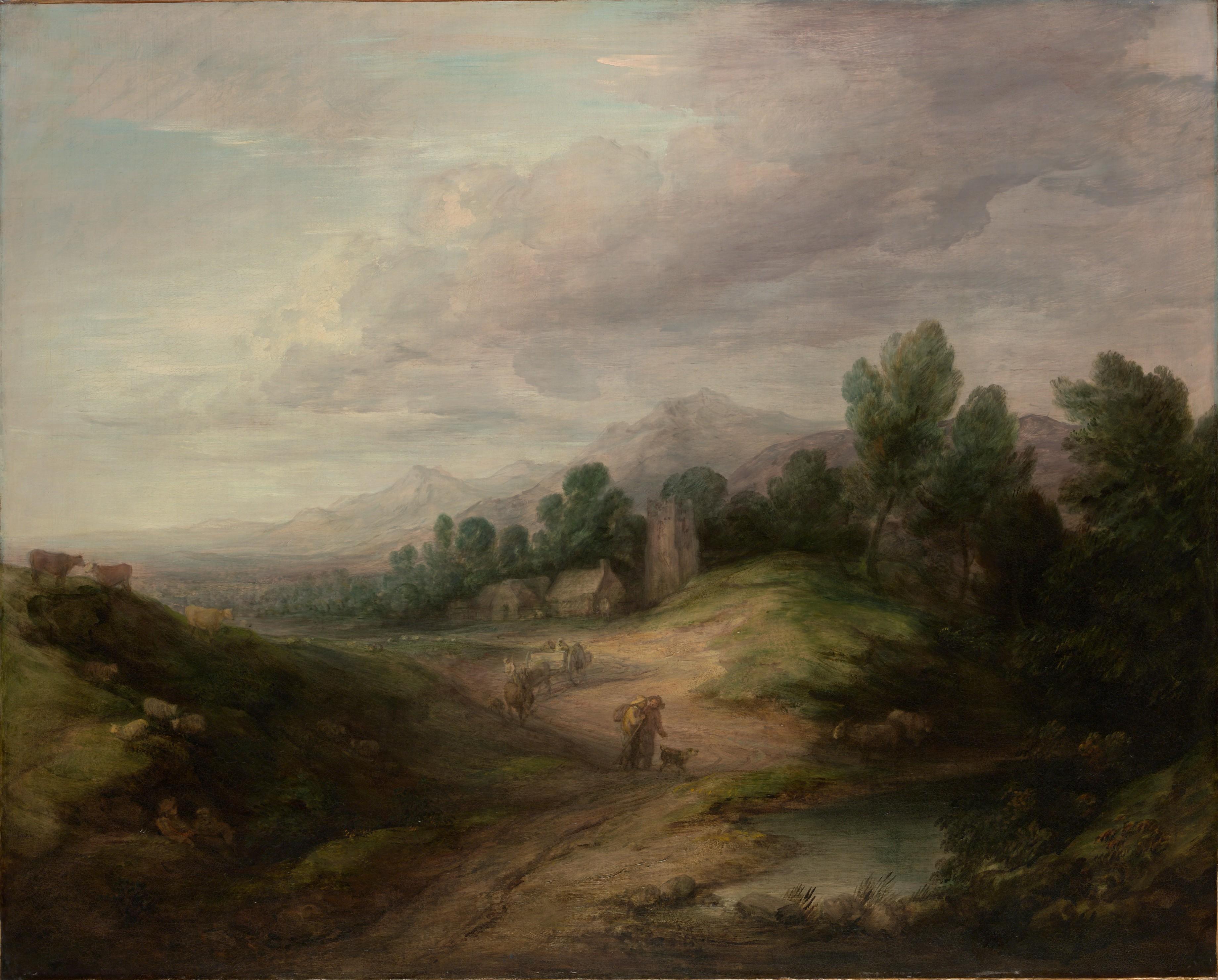 File Thomas Gainsborough Wooded Upland Landscape Jpg