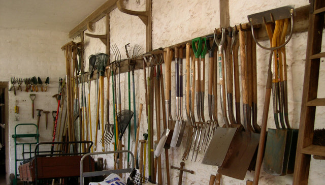 garage man cave ideas uk - File Tools in the potting shed geograph