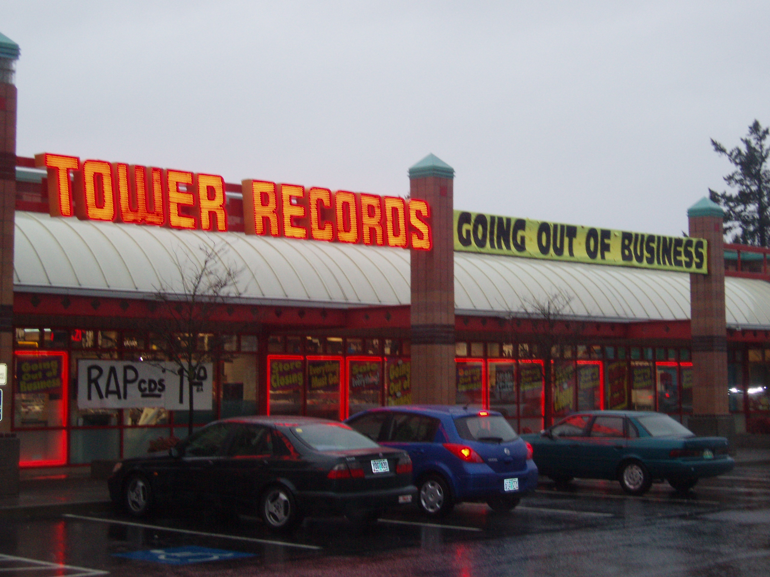 Tower Records Goes Out of Business