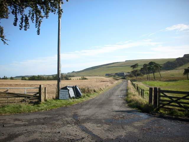 Track to Cowbraehill Farm. Near Tynehead.