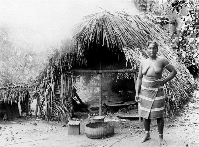 File:Tropenmuseum Royal Tropical Institute Objectnumber 10019375 Portret van een Marron vrouw voor haa.jpg