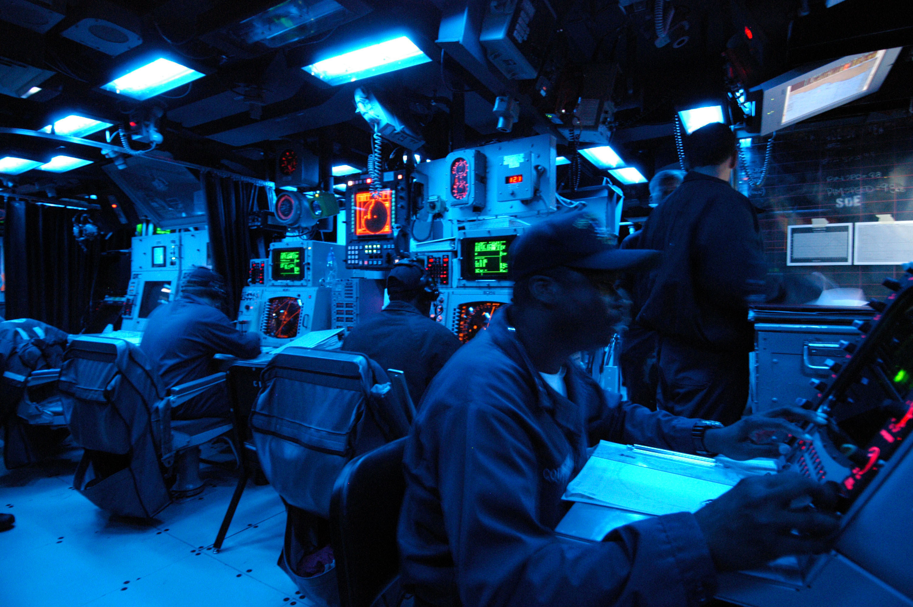 File:US Navy 040629-N-1693W-006 Sailors assigned to the guided ...
