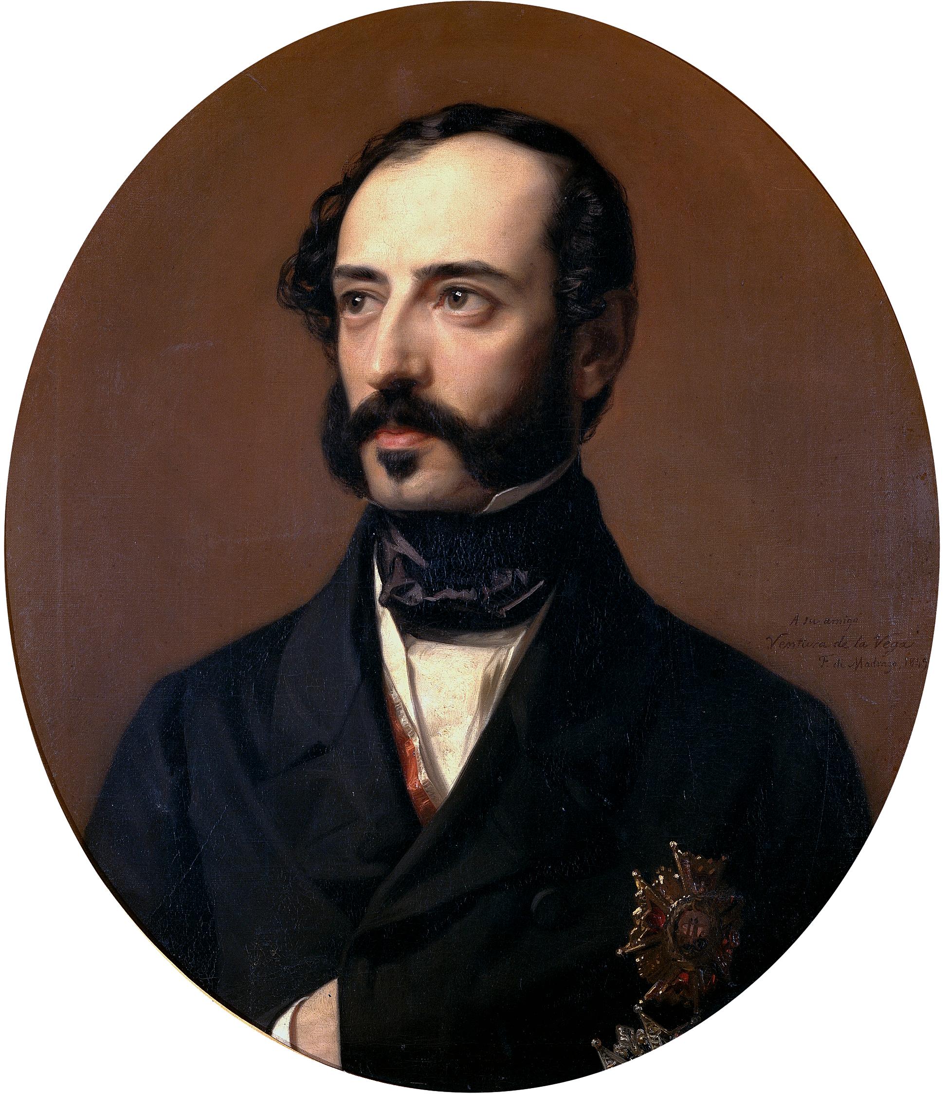 Depiction of Ventura de la Vega