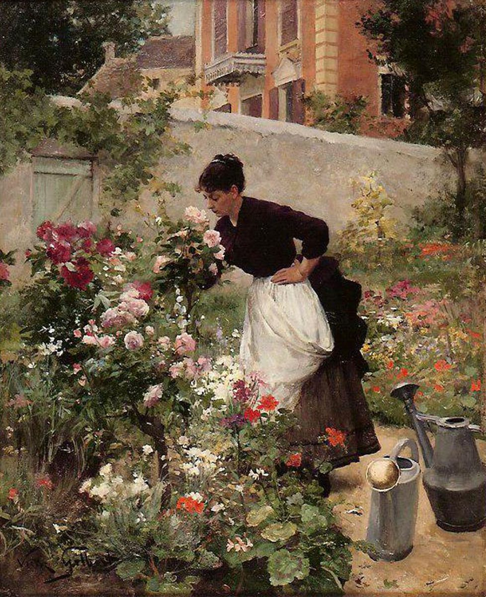 File:Victor-Gabriel-Gilbert Jeune-femme-dans-le-jardin-fleuri.jpg ...