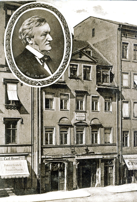 Richard Wagner nació en el número 3 de la calle Brühl, en la judería de Leipzig.