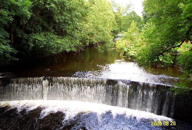 Weir on River Dane - geograph.org.uk - 117987