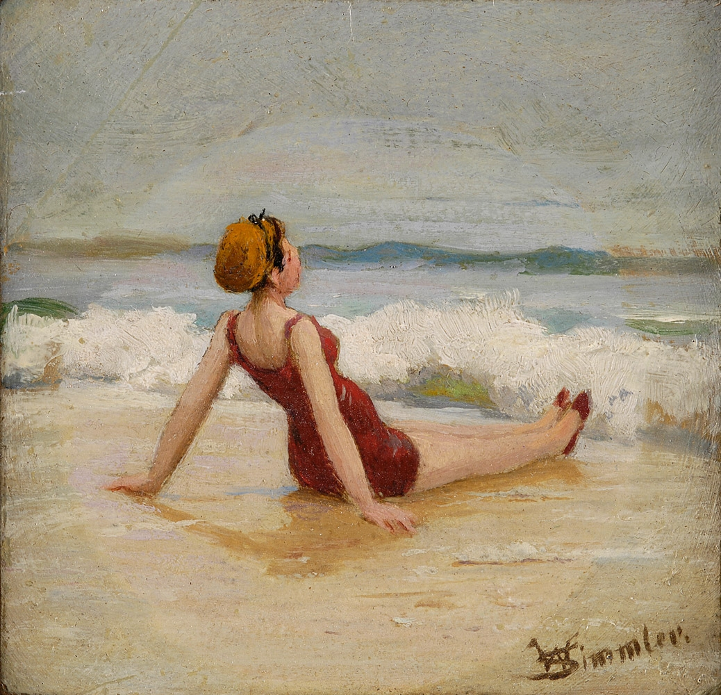Время купаться! Картины про женщин, плещущихся в речках, озерах и морях