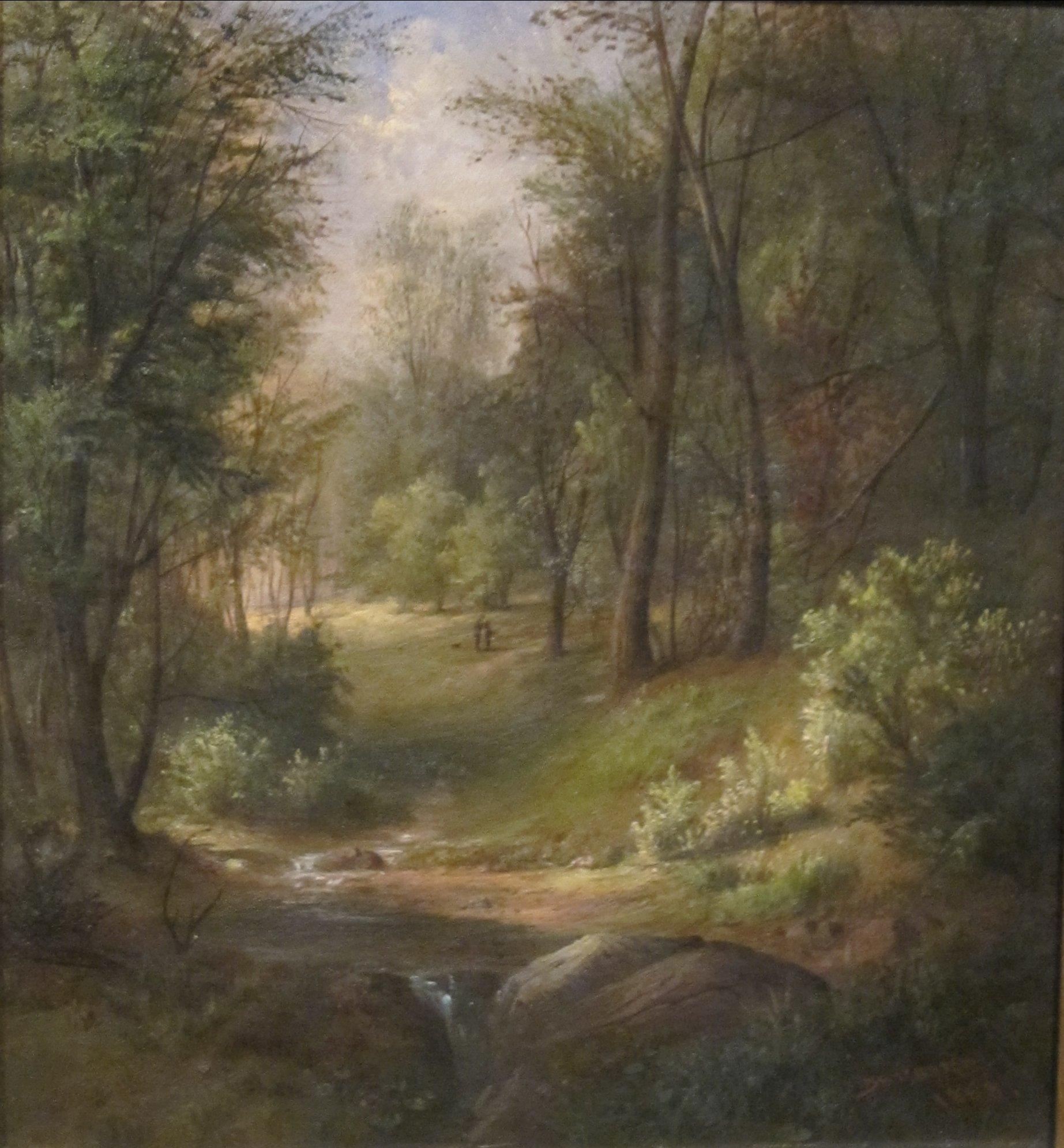 File 39 woodland pool 39 by robert scott duncanson 1868 for Find a landscaper
