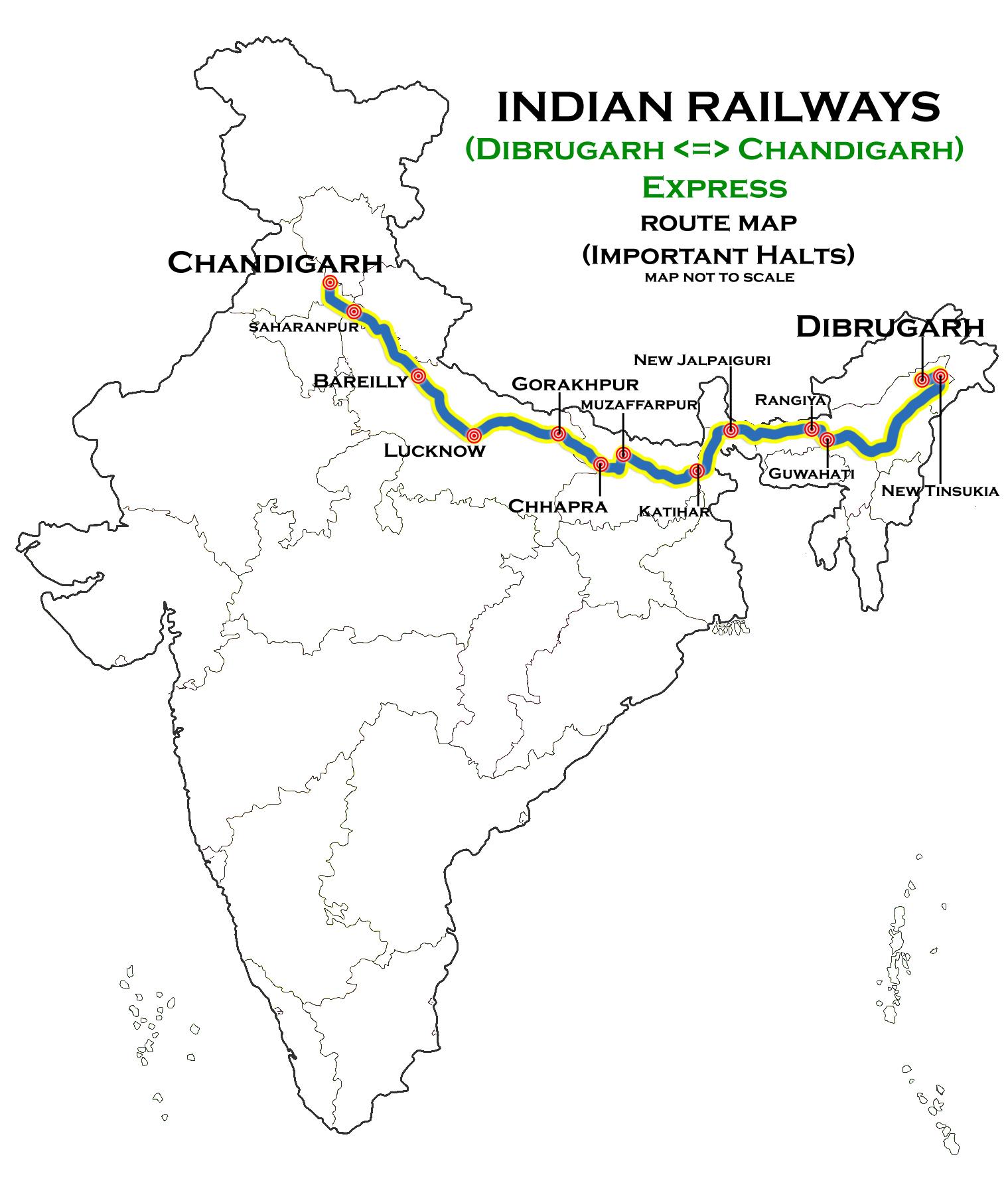 Dibrugarh Chandigarh Express Wikipedia