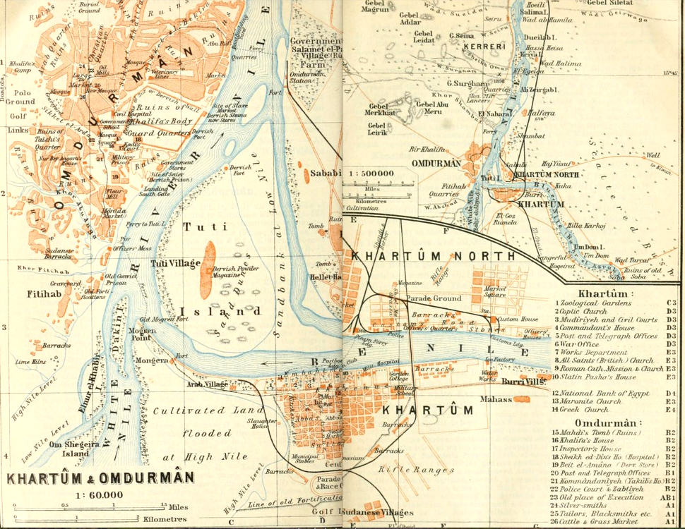 File1914 map Khartum and Omdurman by Baedekerpng Wikimedia Commons