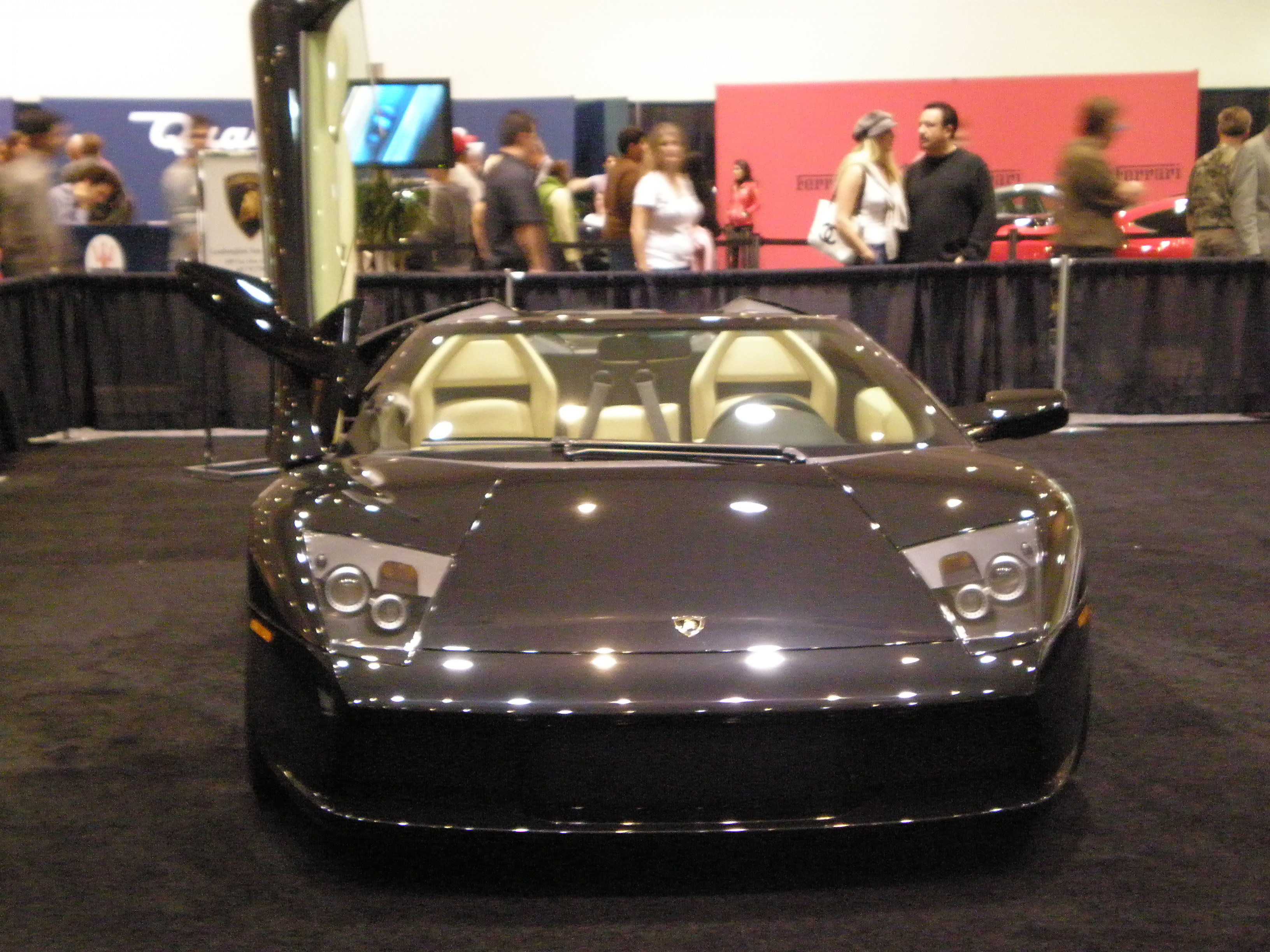 File:2005 Blue Lamborghini Murcielago Roadster Front.JPG