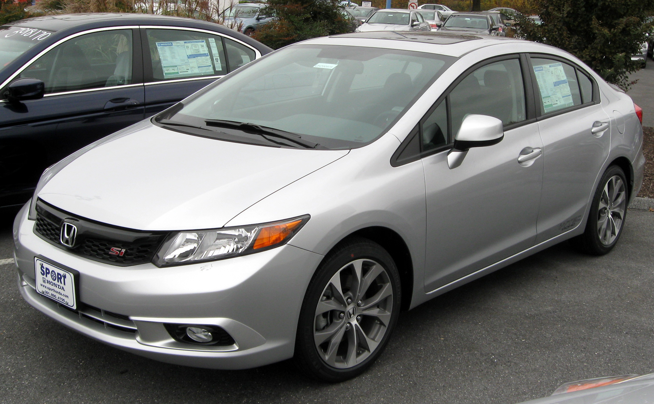 Description 2012 Honda Civic Si Sedan   11 10 2011