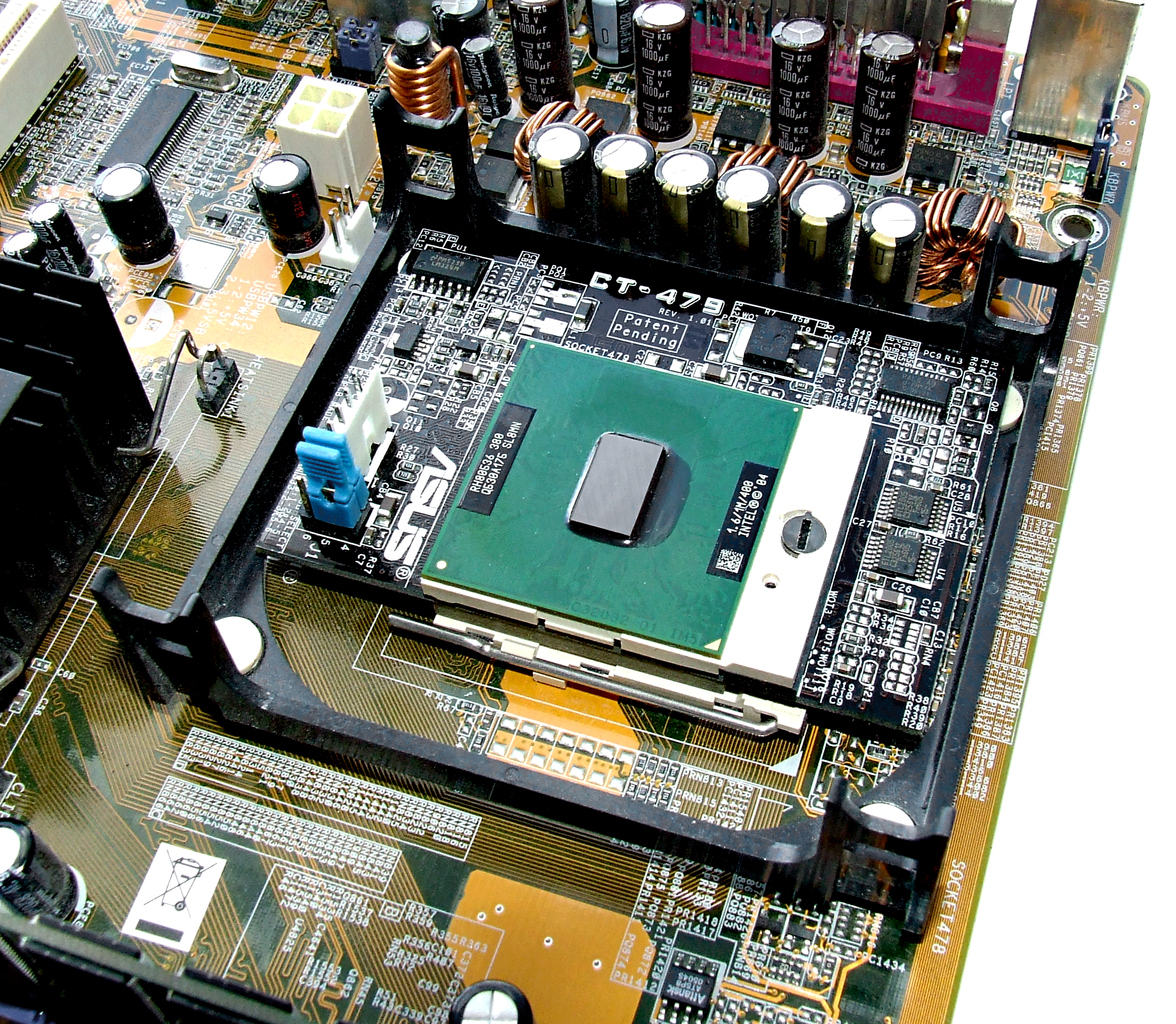 CT-479 installed on ASUS P4GPL-X motherboard