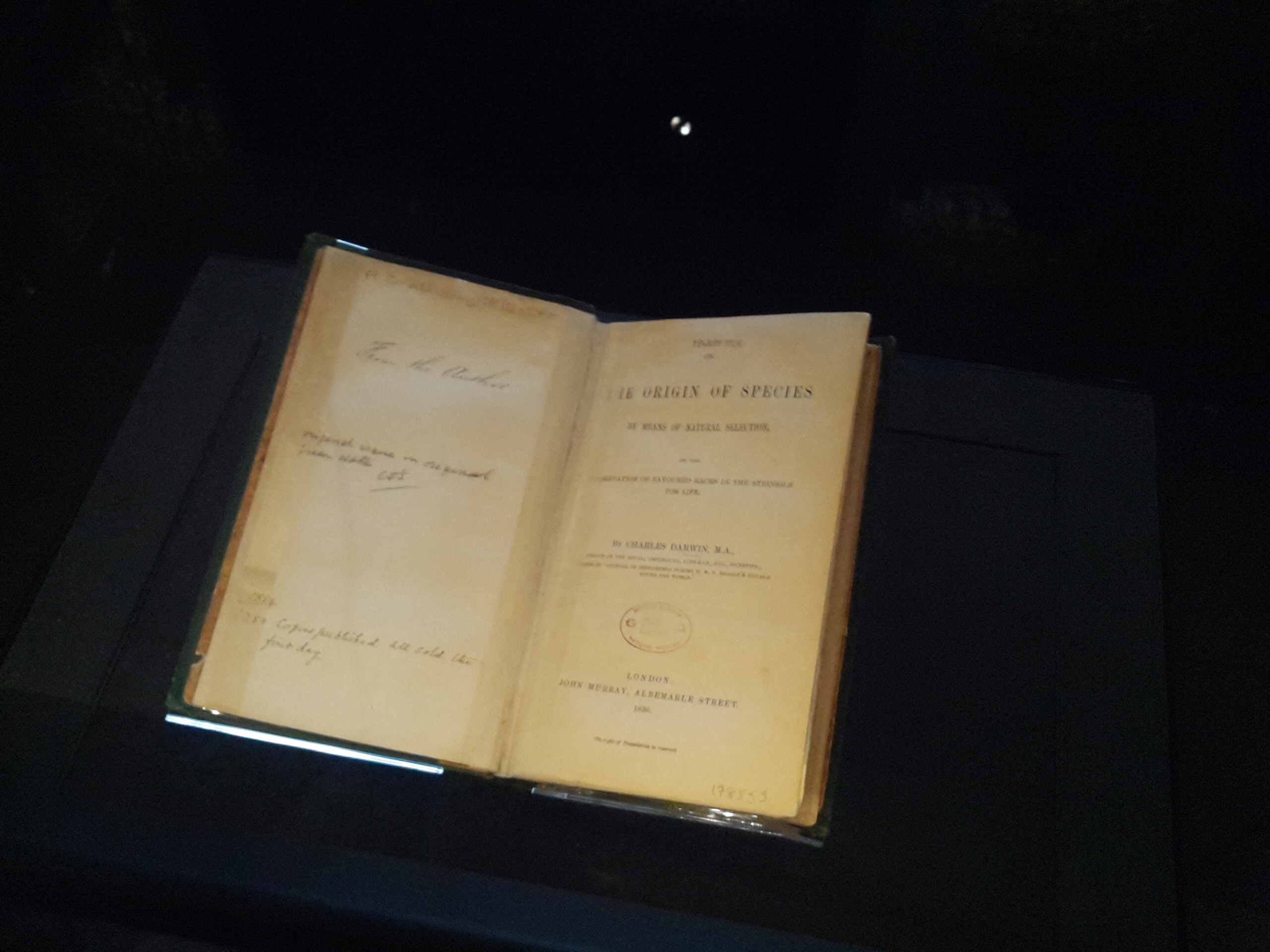 First Edition On the Origin of Species