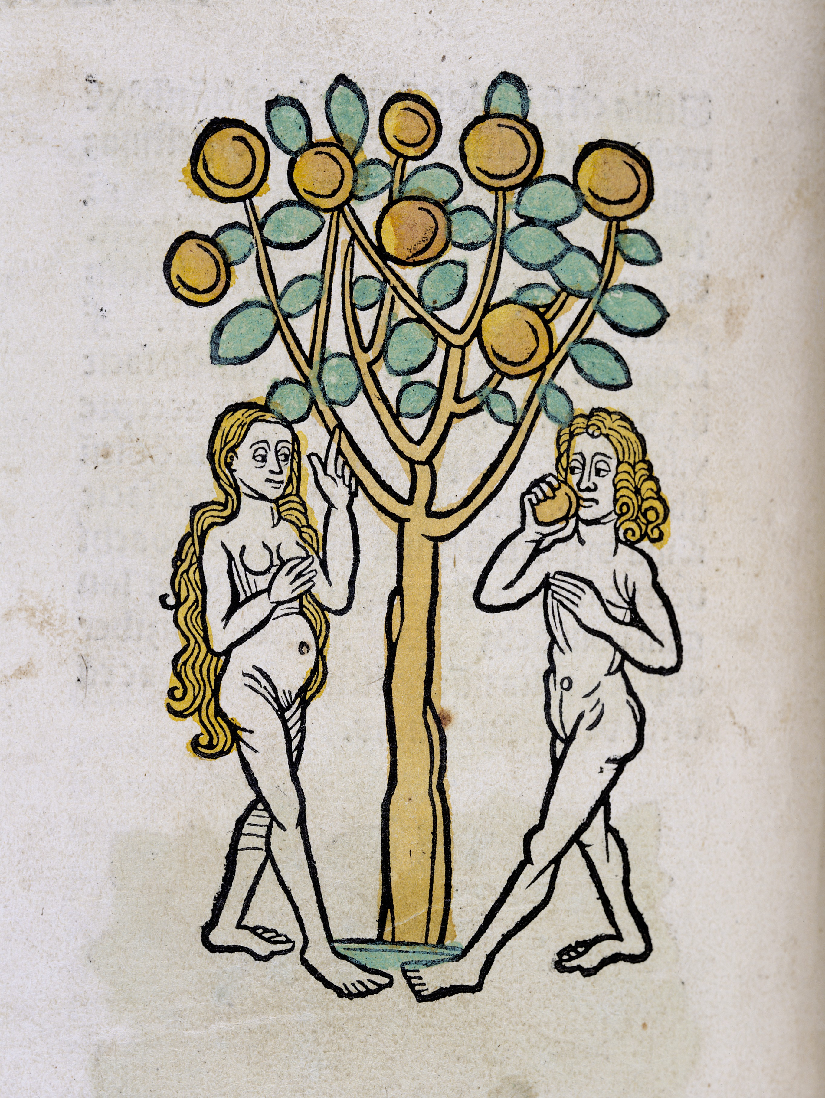 Adam And Eve Under The Tree Of Life