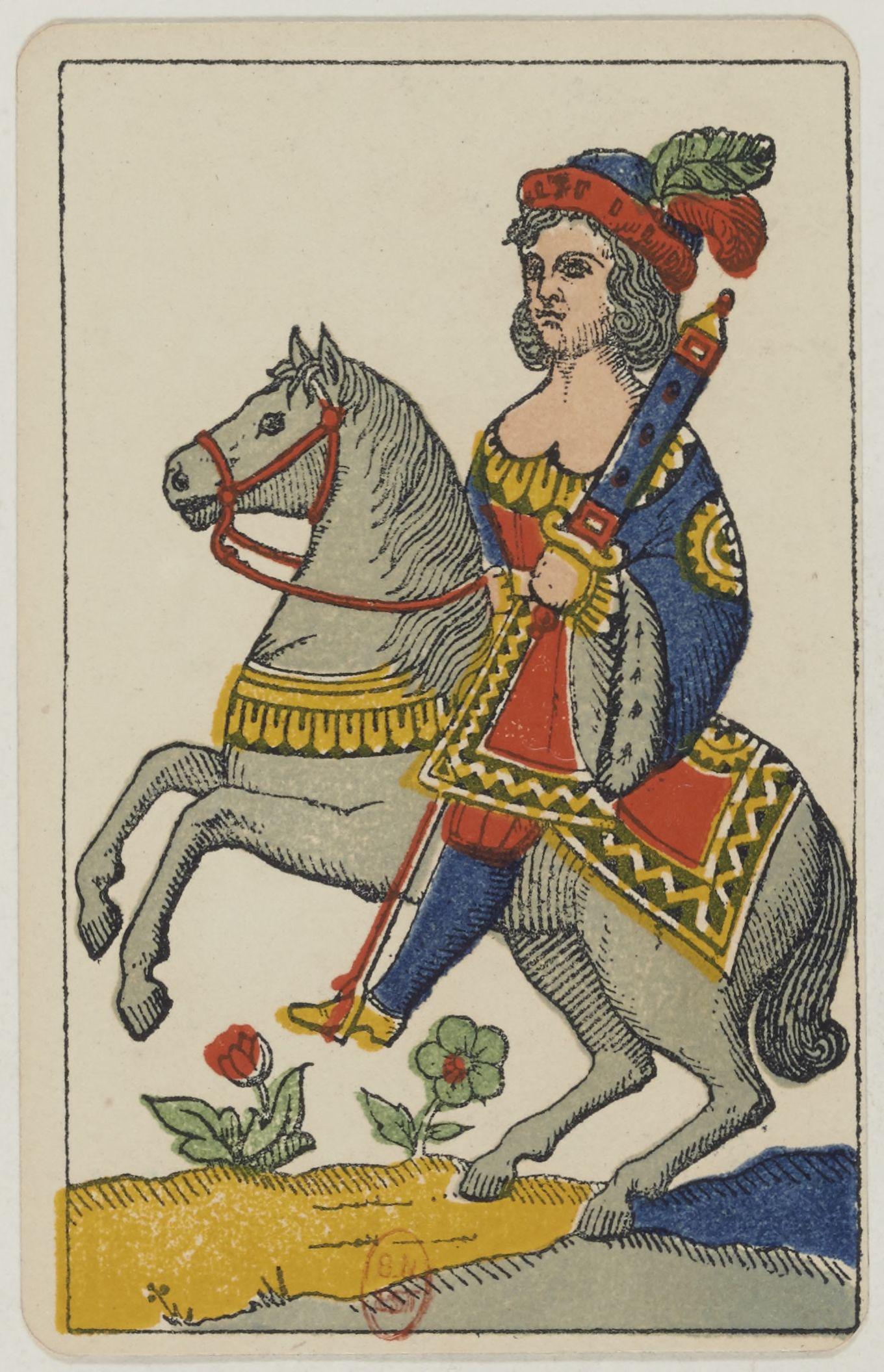 File:Aluette card deck - Grimaud - 1858-1890 - Knight of