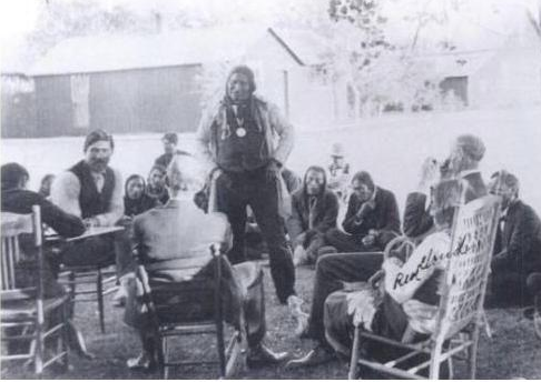 American Horse Tribal Council 1903 (includes Red Cloud)- meeting of Native Americans. American Horse Tribal Council, 1903.png