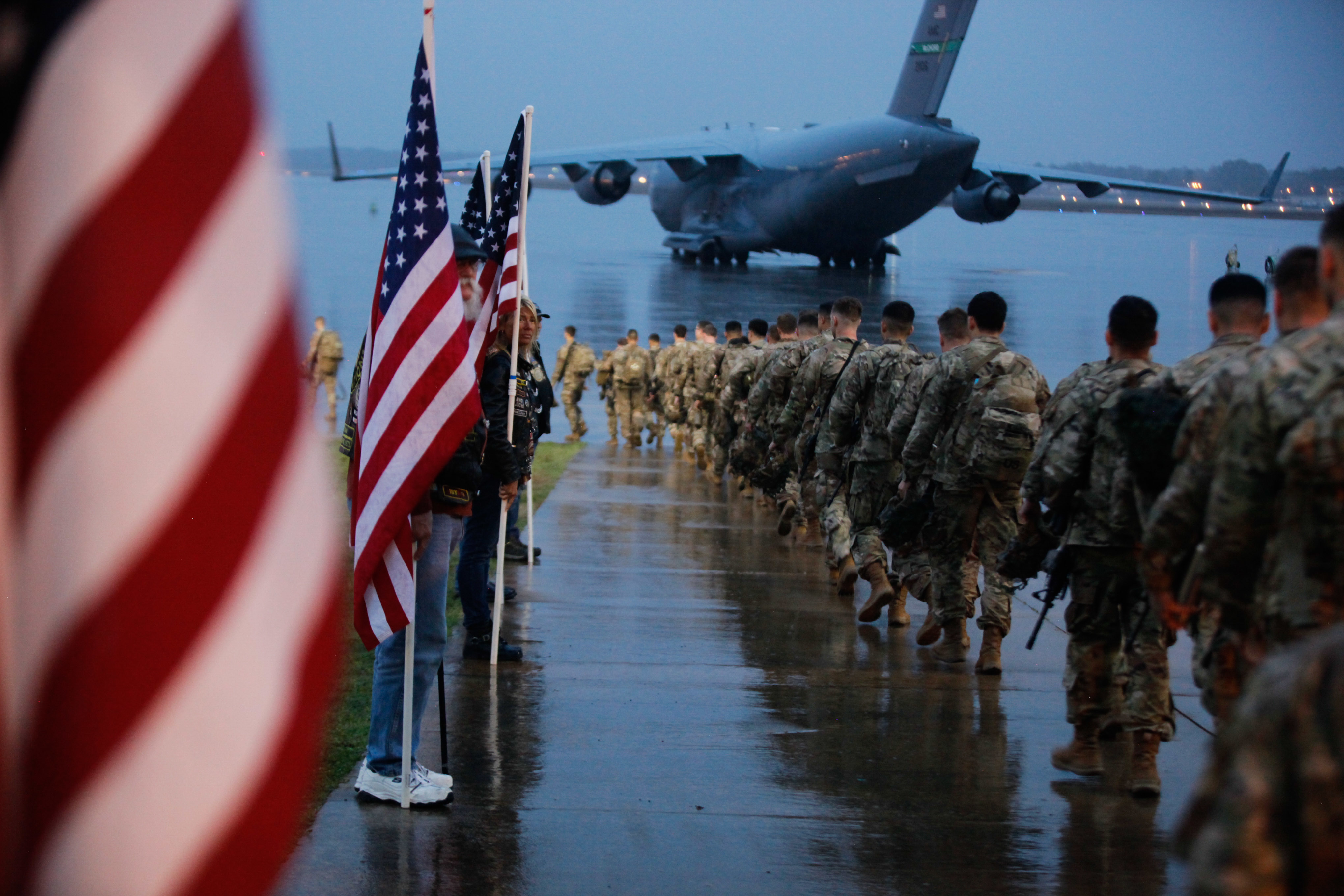 US Paratroopers and Equipment Bound for the U.S. Central Command Area of Operations