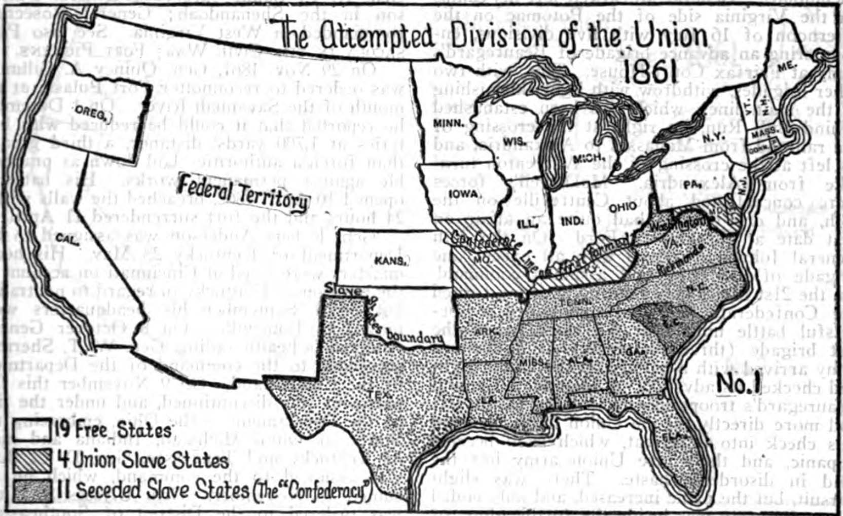 Usa Civil War - Map Of The Us In The Civil War