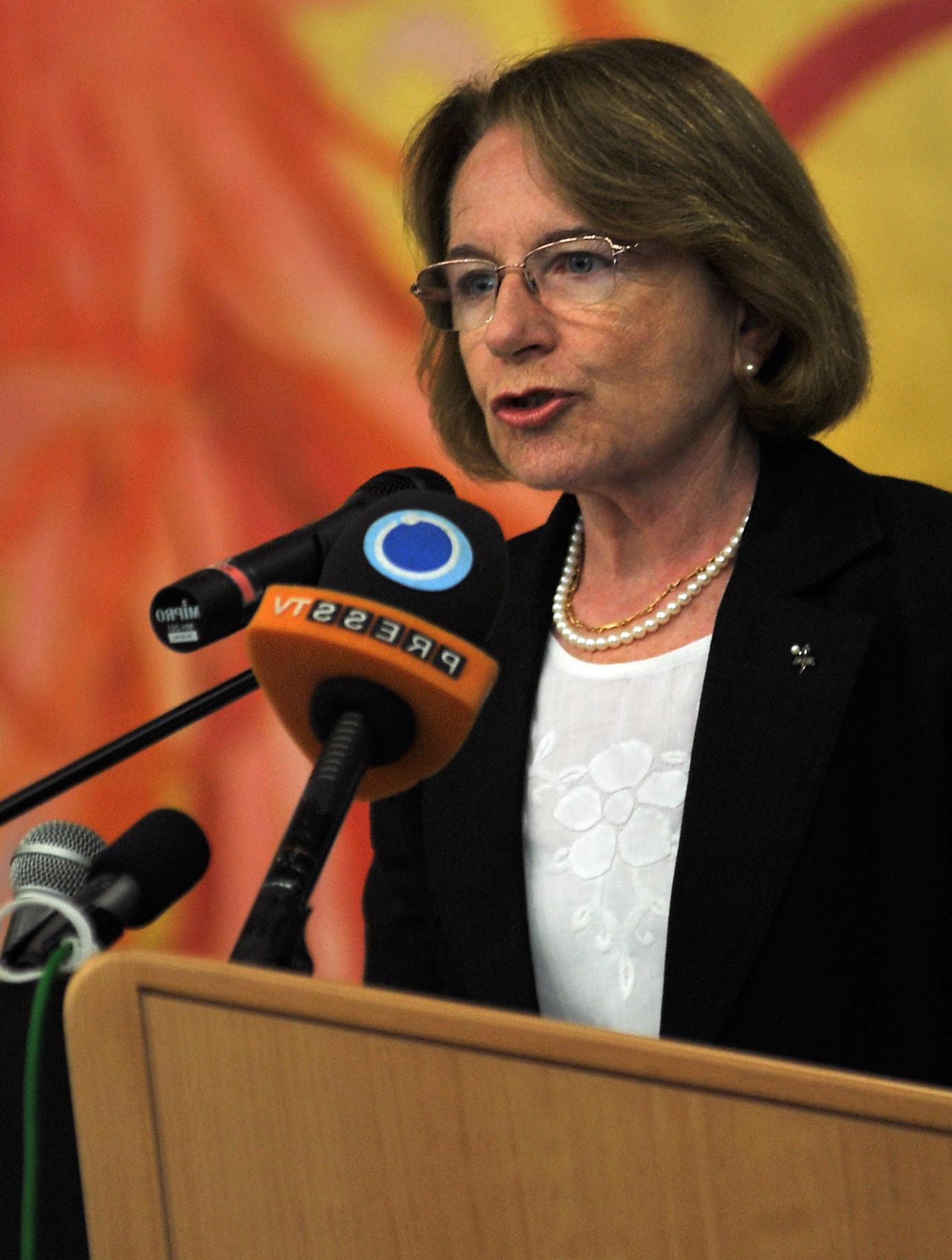Ana María Cetto at [[IAEA]] Commemorative Ceremony on the [[Atomic bombings of Hiroshima and Nagasaki|Destruction of Hiroshima and Nagasaki]], 2010.
