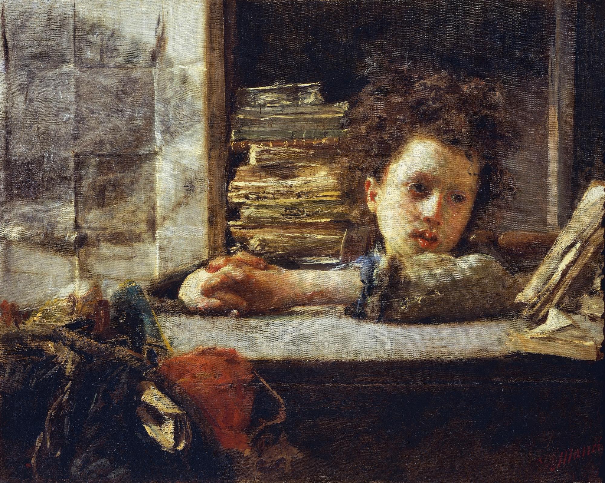 Ritratto di signora by Antonio Mancini on artnet